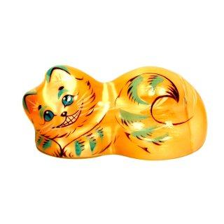 Selenit Grinsekatze 3cm hoch Selenit Orange Dekoration und Glücksbringer