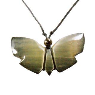 Selenit Anhänger Schwarzer Schmetterling Schmuck Marienglas