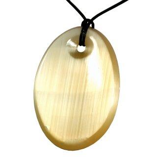 Selenit Anhänger Oval Abstrakt Bogenform Marienglas Schmuck