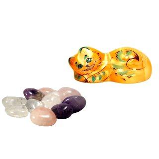 Wassersteine Selenit Figur Set