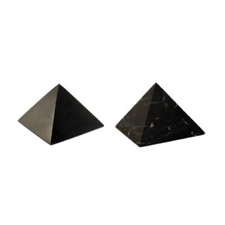 Pyramiden Set Schungit poliert/unpoliert 5cm