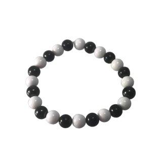 Armband Schungit + Bergkristall 8mm Perlen